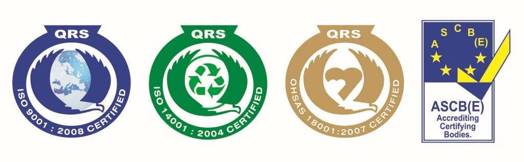 certificate ISO logo 9001, 14001, 18001 1